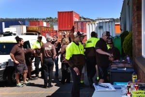 Watkins Kent removalists in Launceston enjoy a launch BBQ.