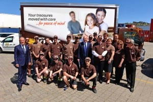 Watkins Kent Tasmania removalists and management celebrate the launch of Watkins Kent Removals & Storage in Launceston