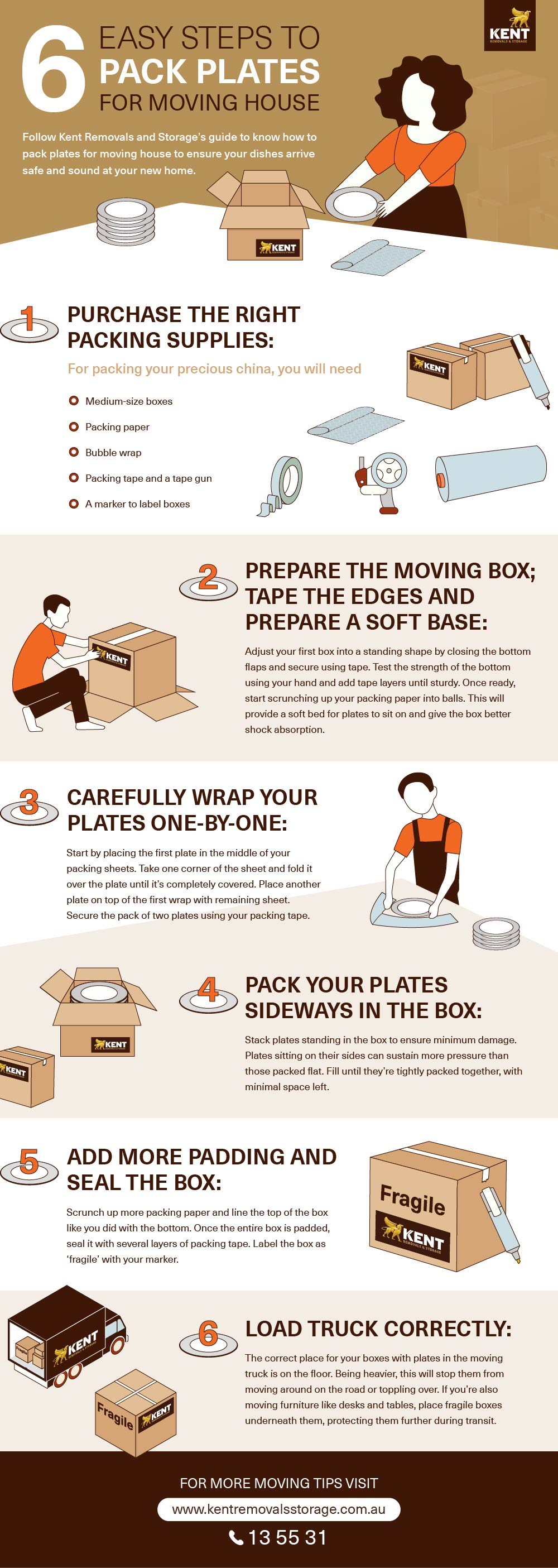 6 Easy Steps To Pack Plates for Moving House image