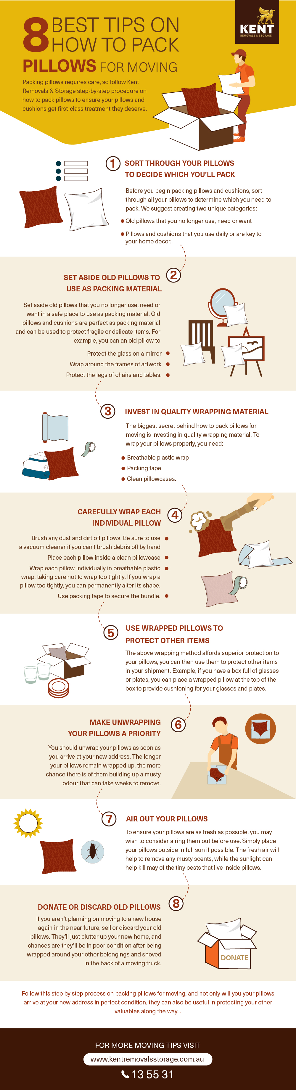 8 Best Tips On How To Pack Pillows For Moving